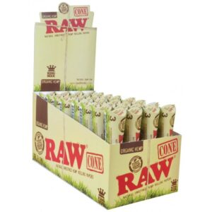 RAW Organic Hemp Pre-Roll Cones - King Size (3 Pack)